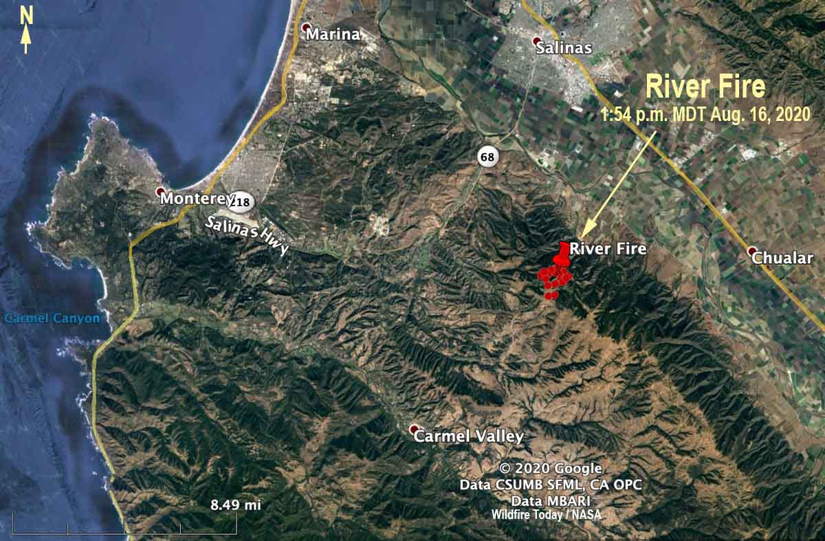 map River Fire