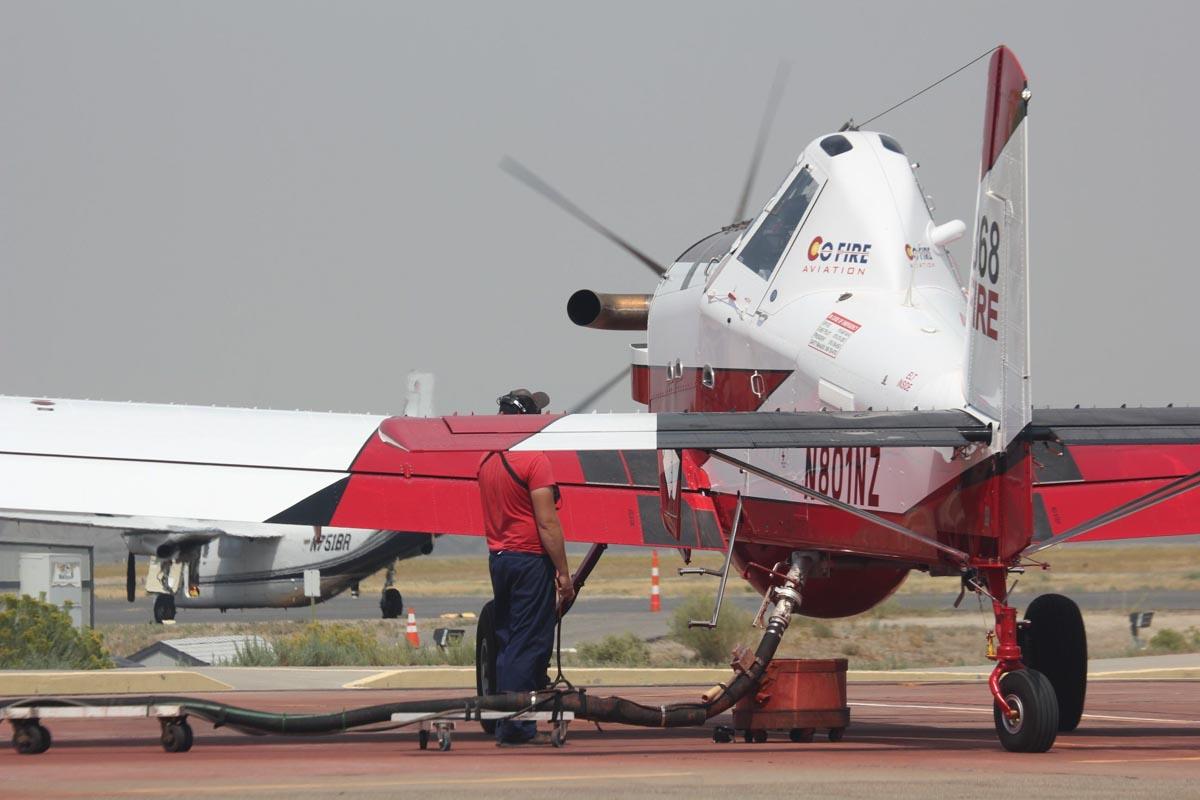 Pine Gulch Fire Colorado single engine air tanker