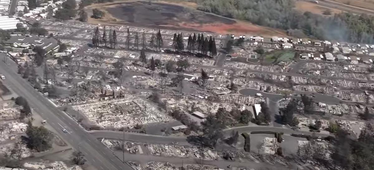 structures burned Almeda Drive Fire Phoenix Talent Oregon