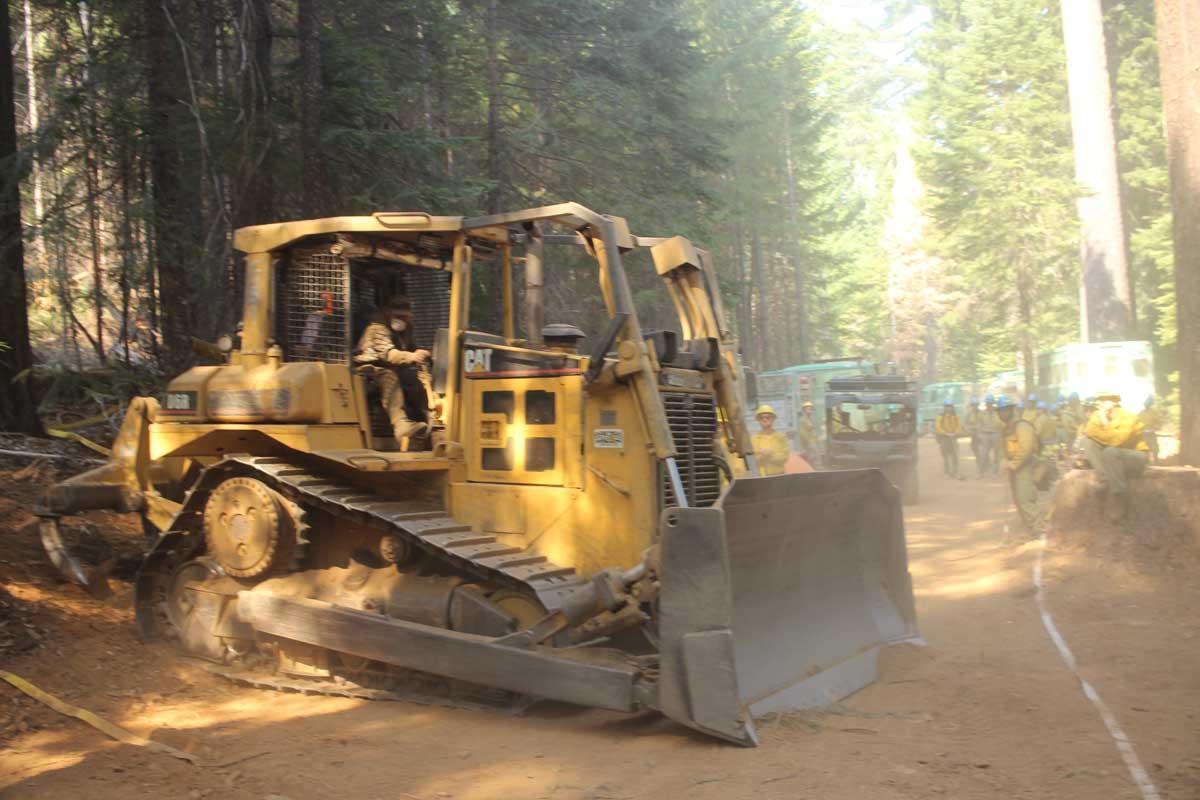 bulldozer August Complex fire