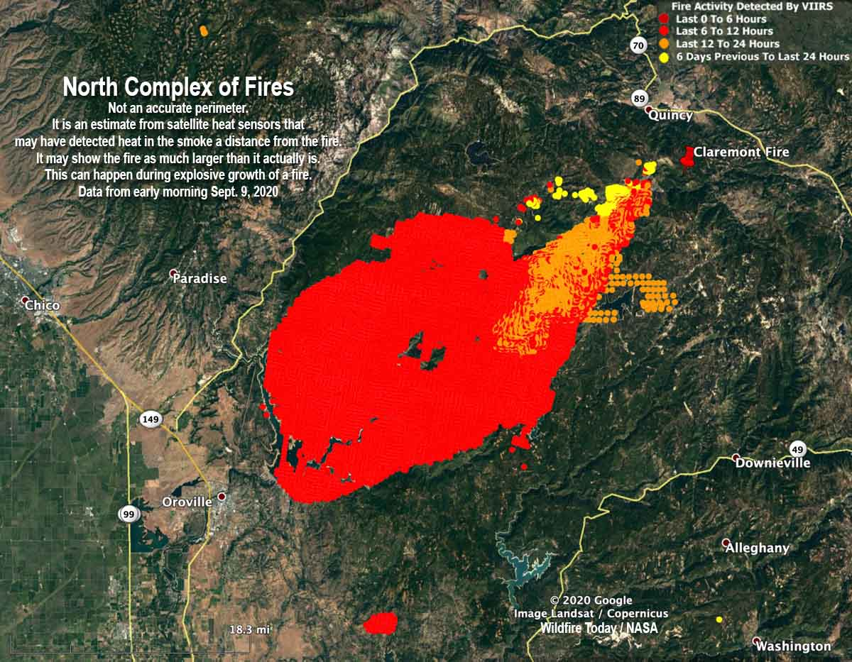 Claremont and Bear Fires