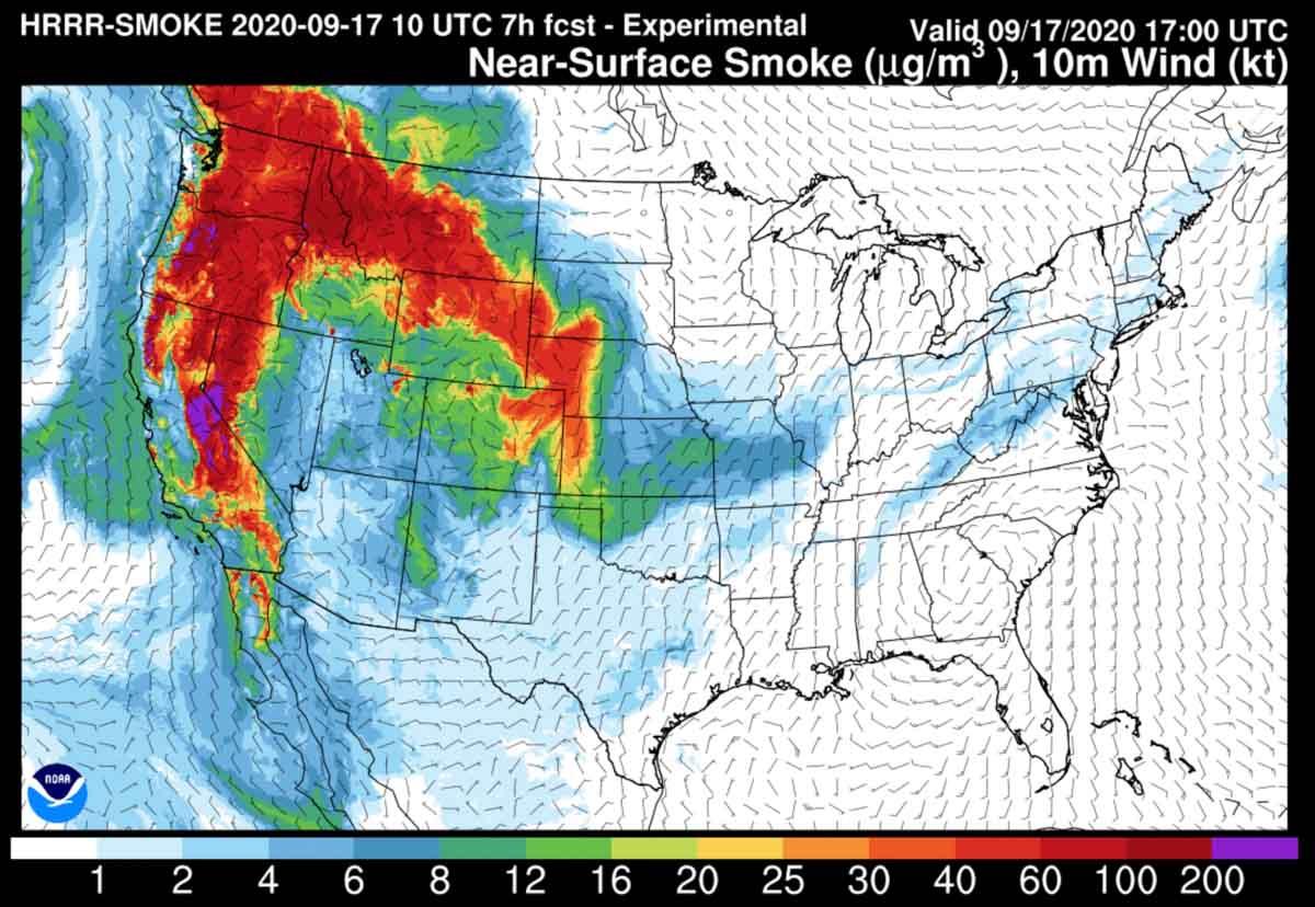Forecast for near-surface smoke