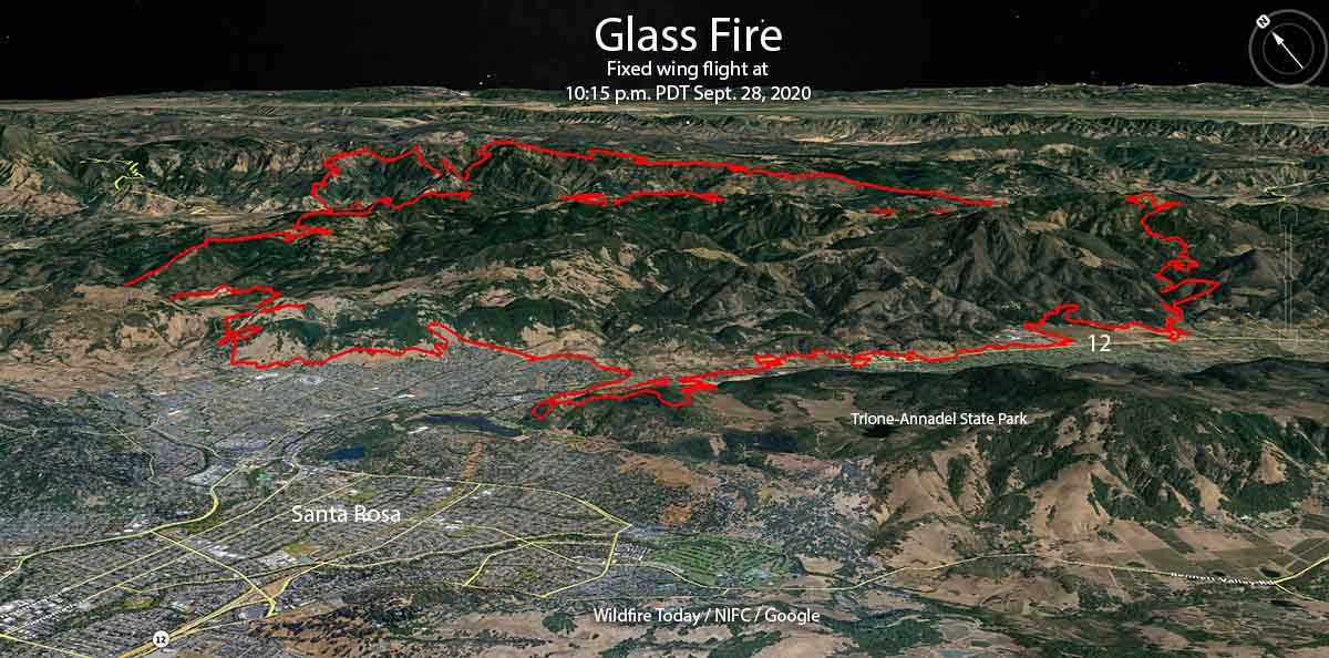 3-D map of the Glass Fire