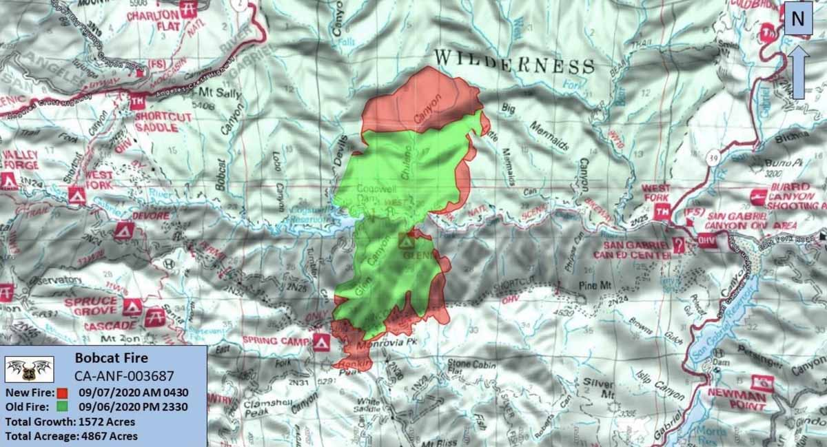 map Bobcat Fire