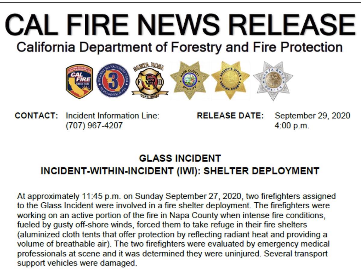 Fire Shelter deployment, September 27, 2020