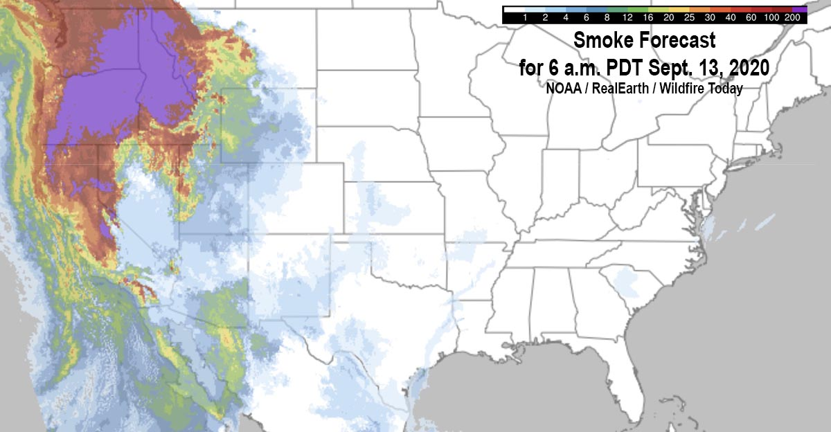 Smoke Forecast fire September 13, 2020