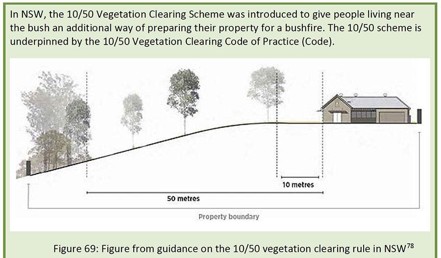 10-50 vegetation clearing