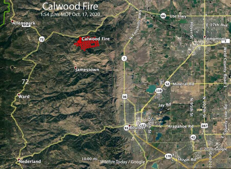 Map of the Calwood Fire
