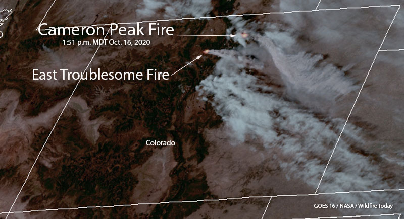 Cameron Peak Fire Colorado satellite photo