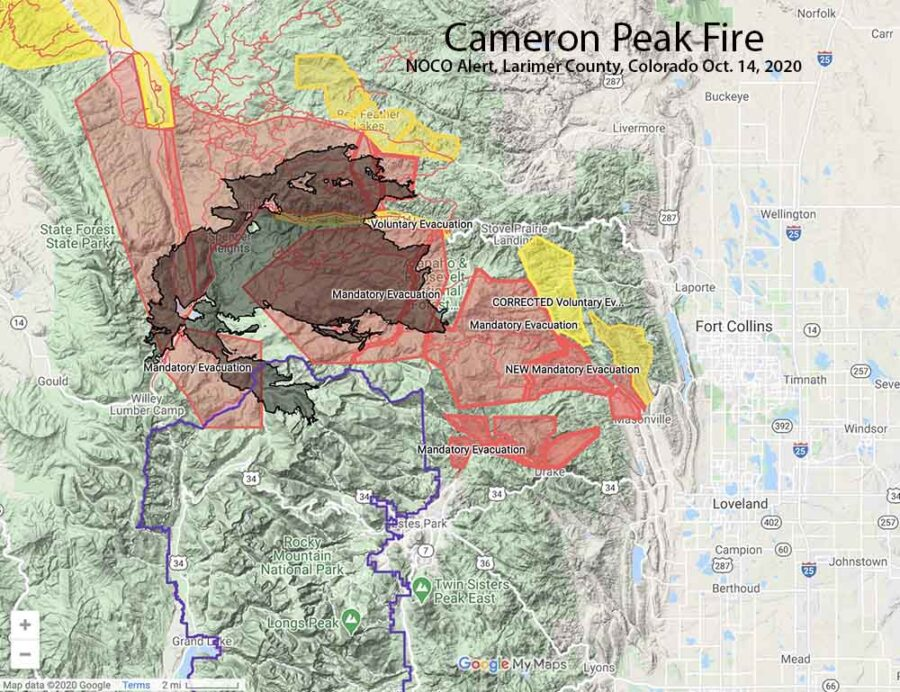 Cameron Peak Fire evacuations