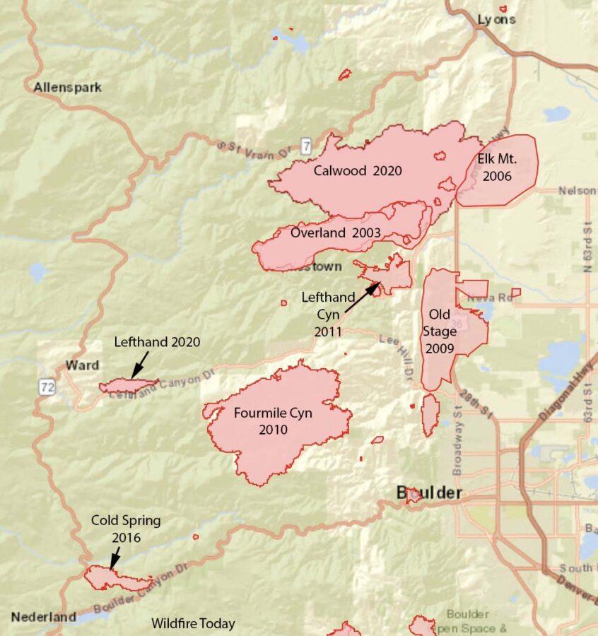 Colorado fire history Boulder