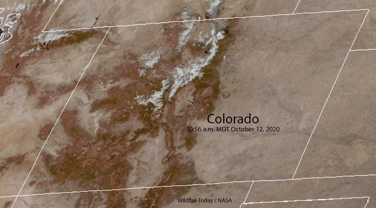 Colorado snow mountains fires