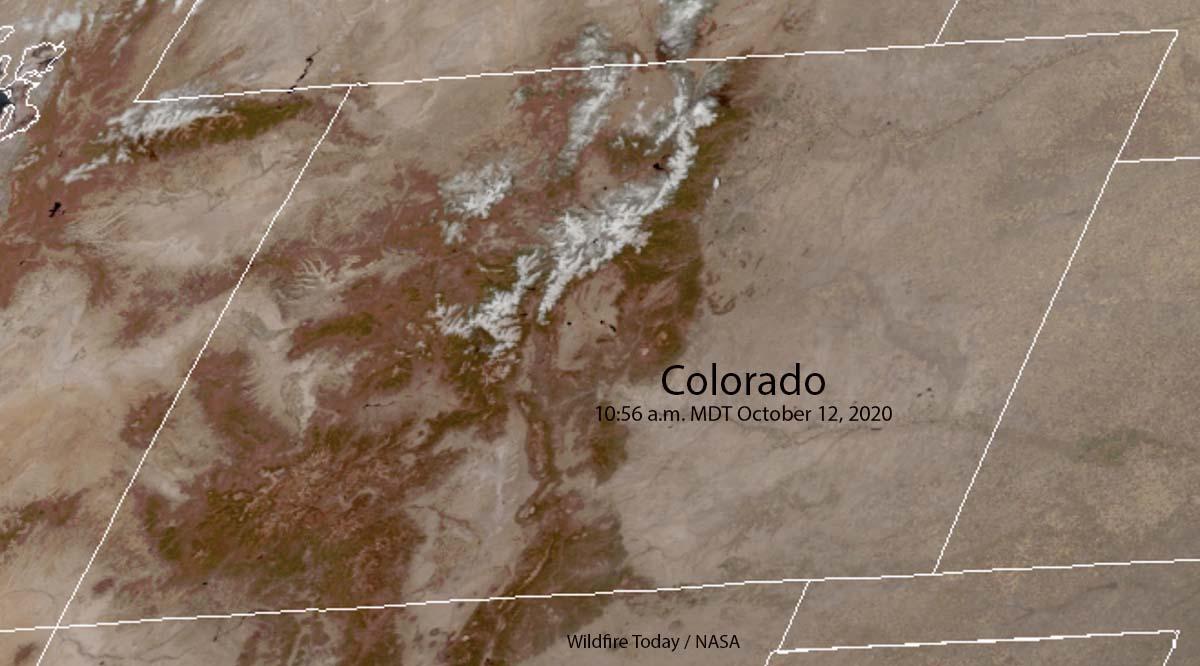 Colorado snow mountains fires