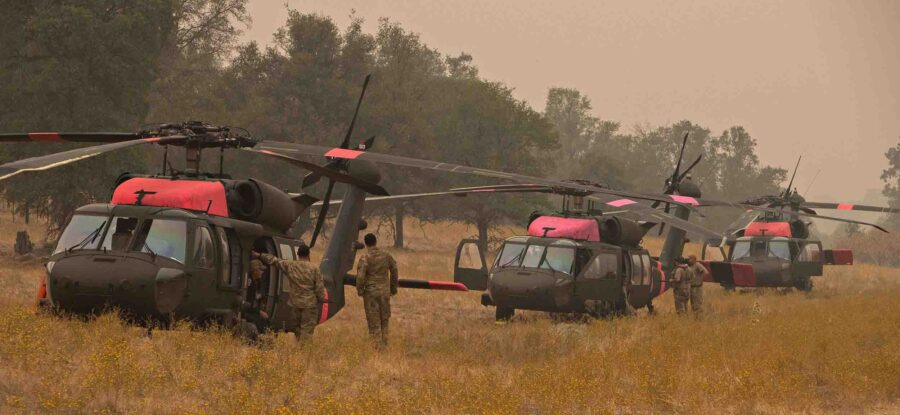 national guard helicopters creek fire california