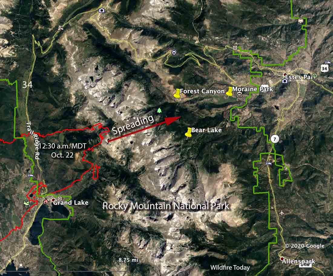 Map East Troublesome Fire