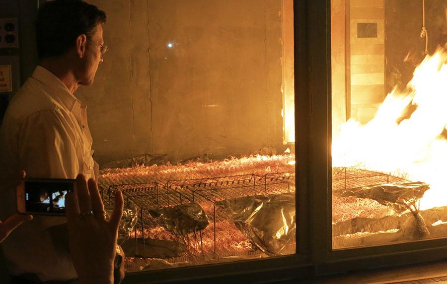 Missoula Fire Lab burn chamber