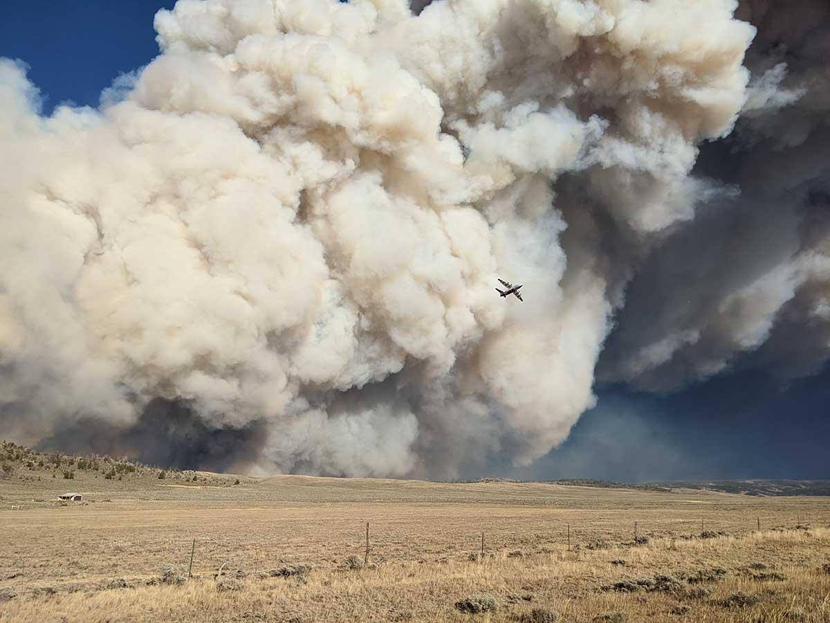 Mullen Fire smoke