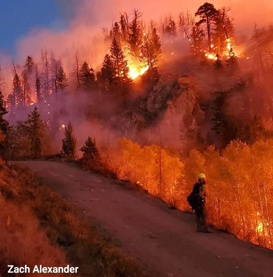 Mullen Fire, night firing