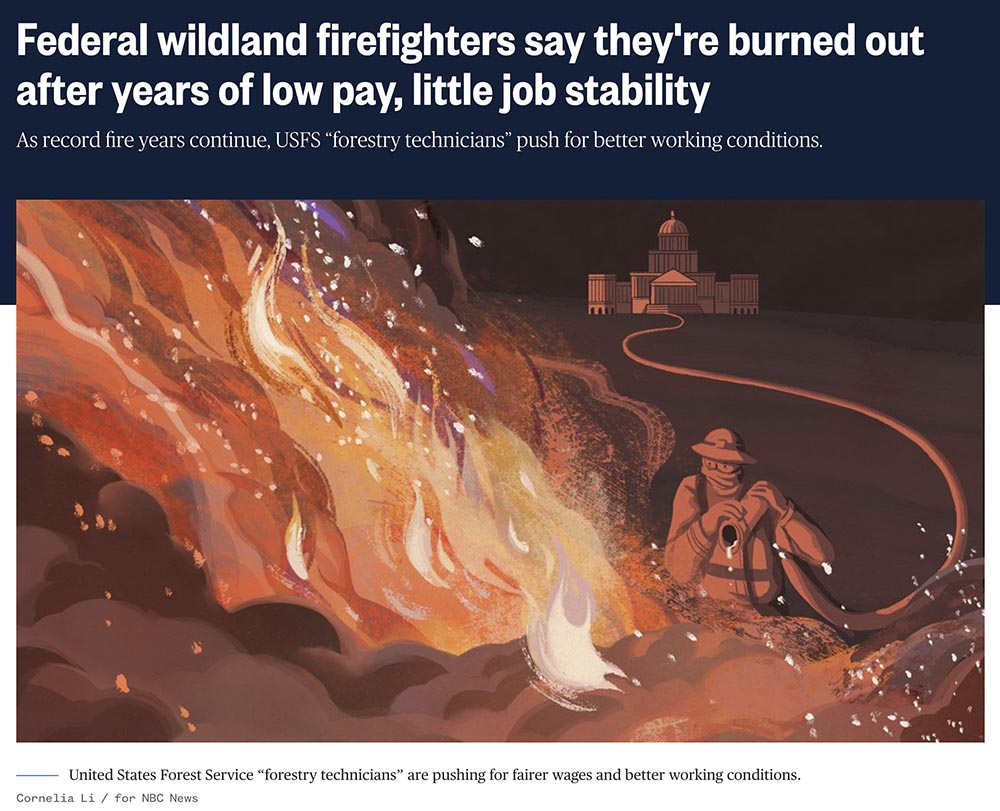 NBC news article federal firefighters