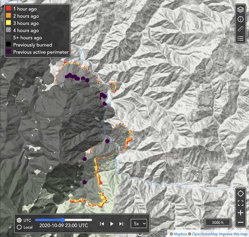 Pyregence fire forecasting tool