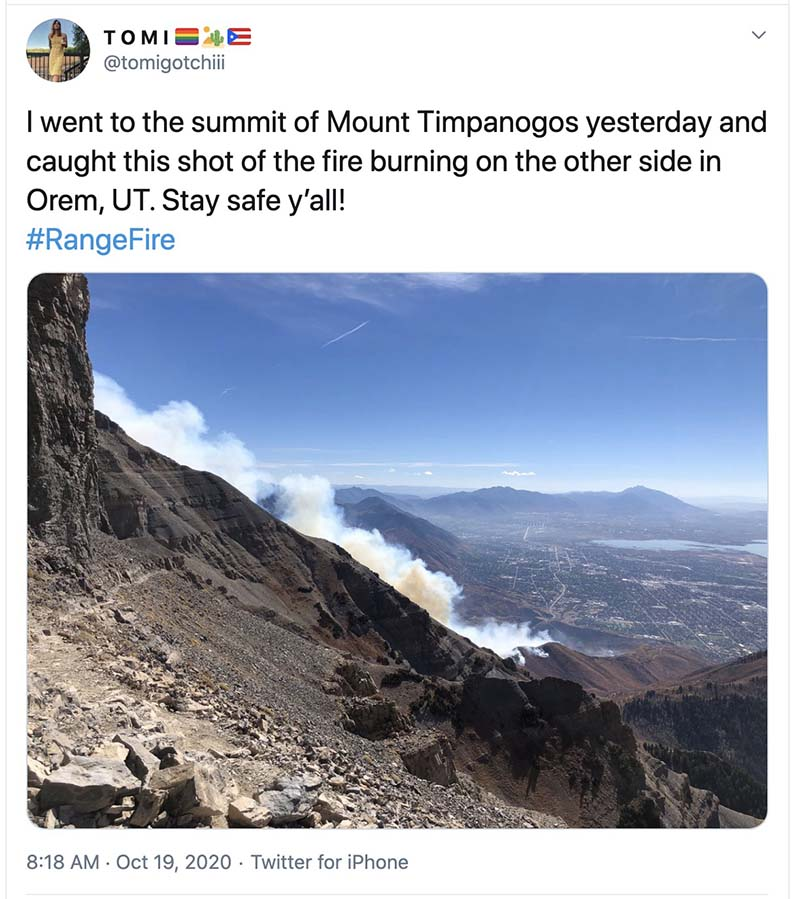 Range Fire, Oct. 18, 2020 Orem Utah