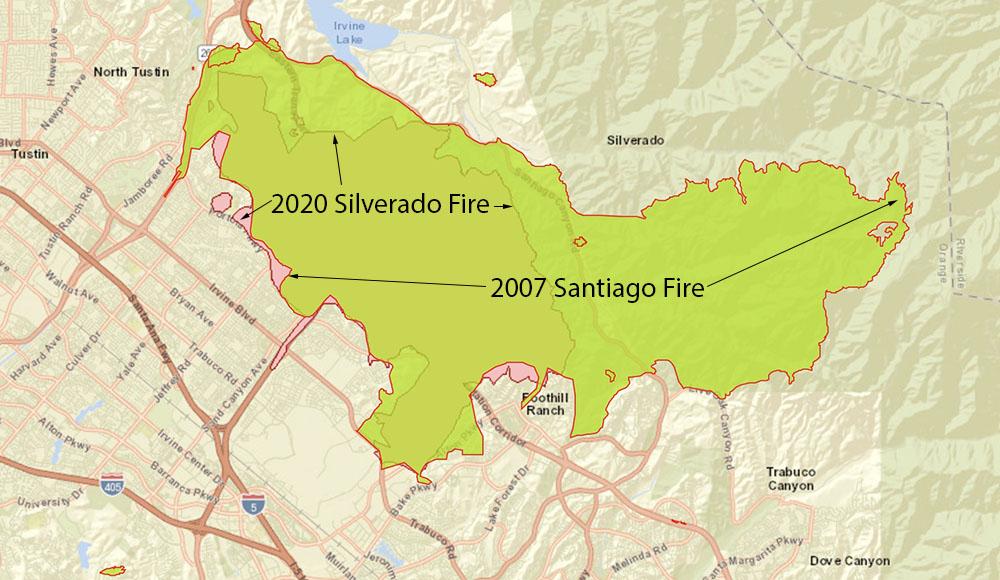 Silverado and Santiago Fires