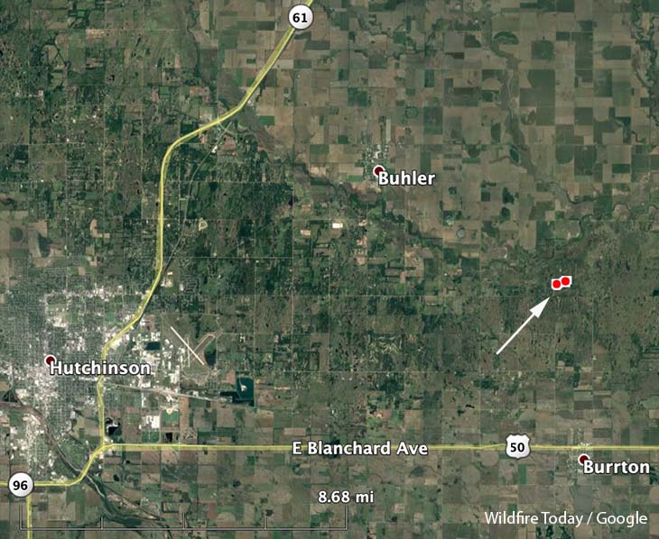 map wildfire Harvey County Kansas air tanker