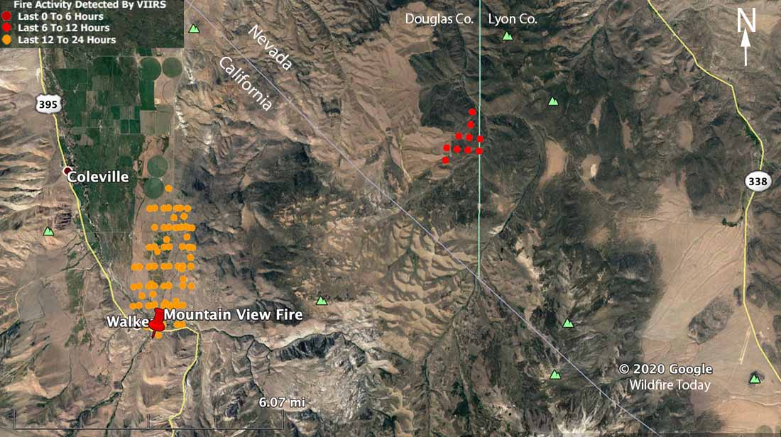 Mountain View Fire map