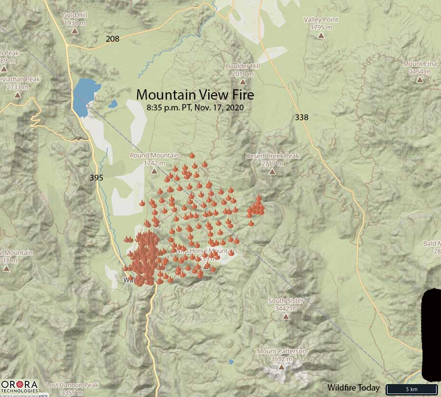 Map of Mountain View Fire