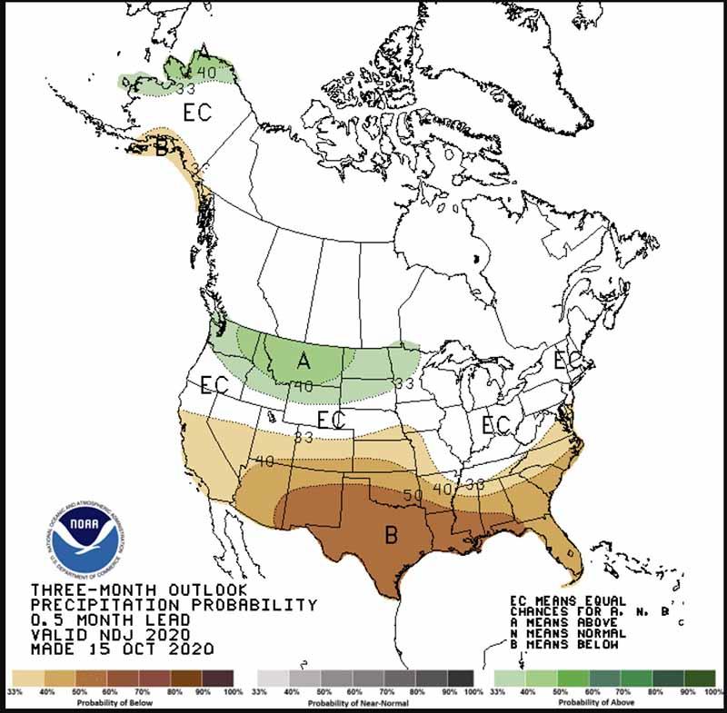 Precipitation November, December, January