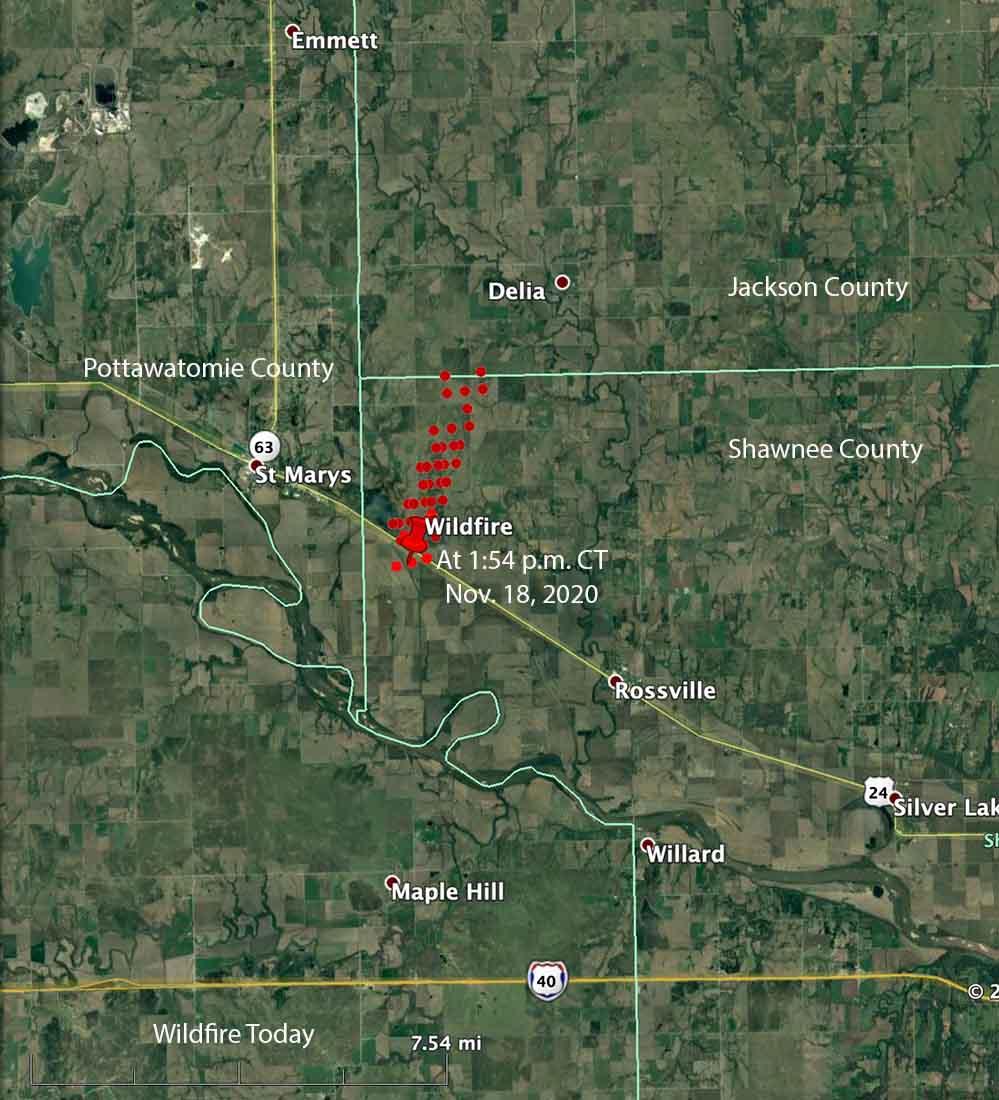 map fire kansas St Marys Rossville