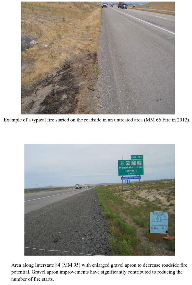 I-84 Fire prevention wildfire Idaho