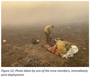 Post-deployment fire shelter Bridger Foothills Fire