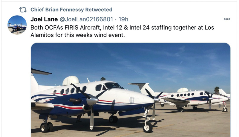 Fire Integrated Real-Time Intelligence System (FIRIS) aircraft