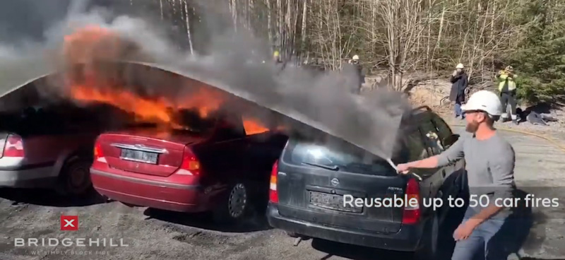 fire blanket vehicle fire