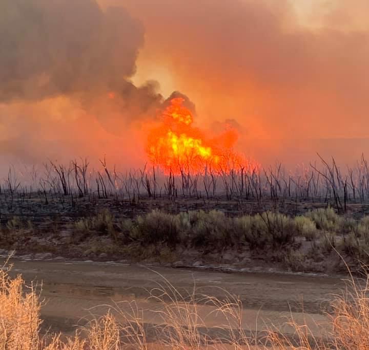 Little Fire, Feb. 27 2021 Winslow Arizona
