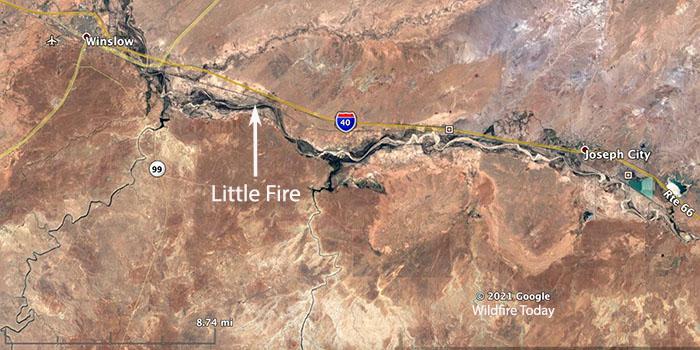 Map Little Fire
