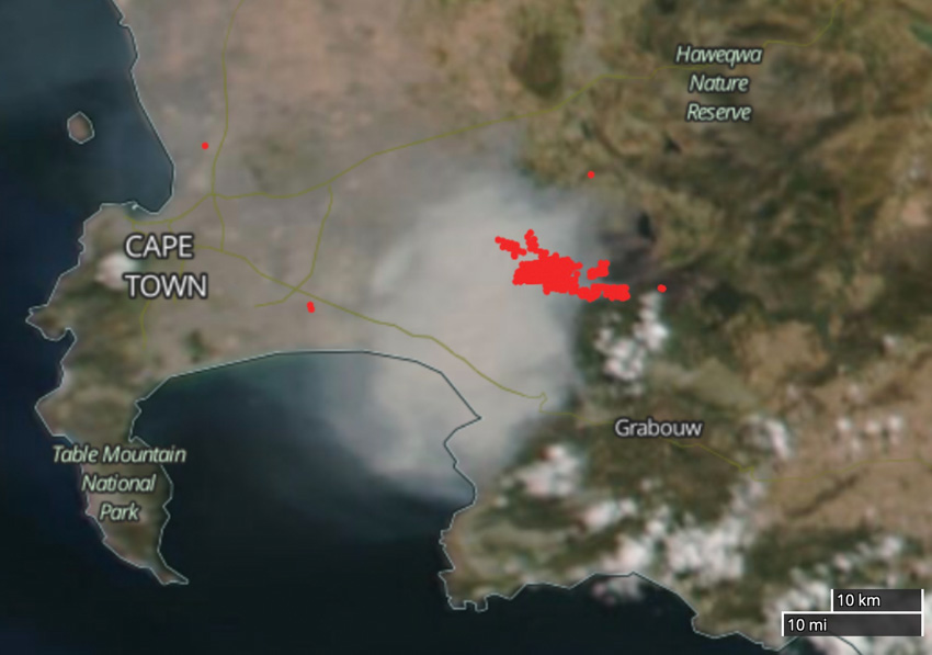 South Africa Fire, Feb. 26, 2021