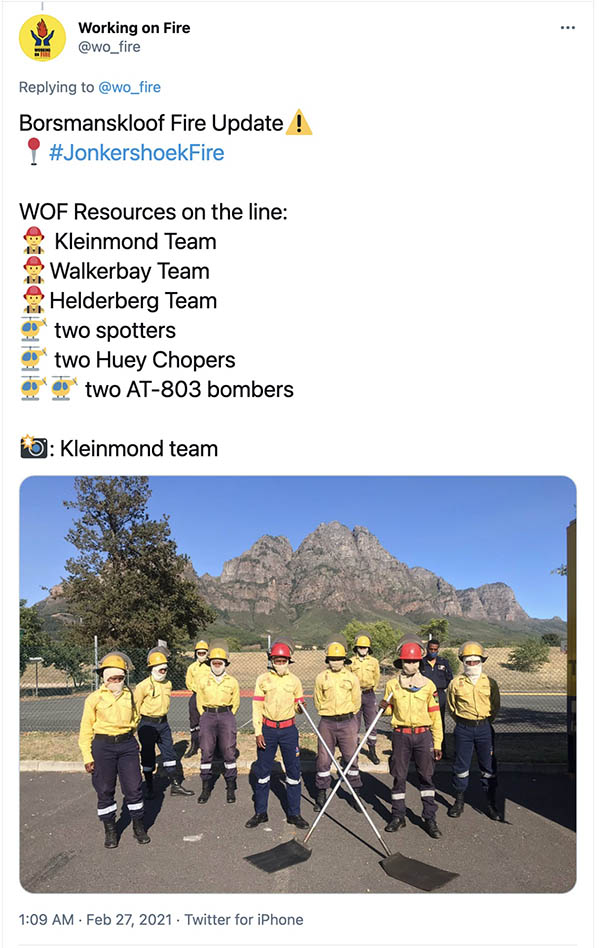 Working On Fire South Africa