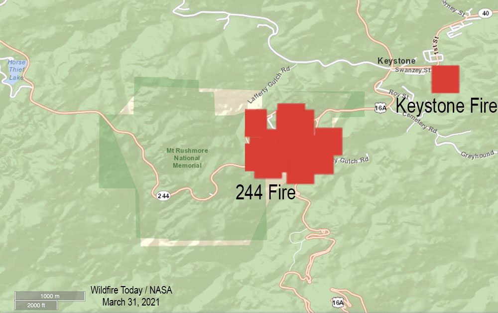 Map of the 244 Fire