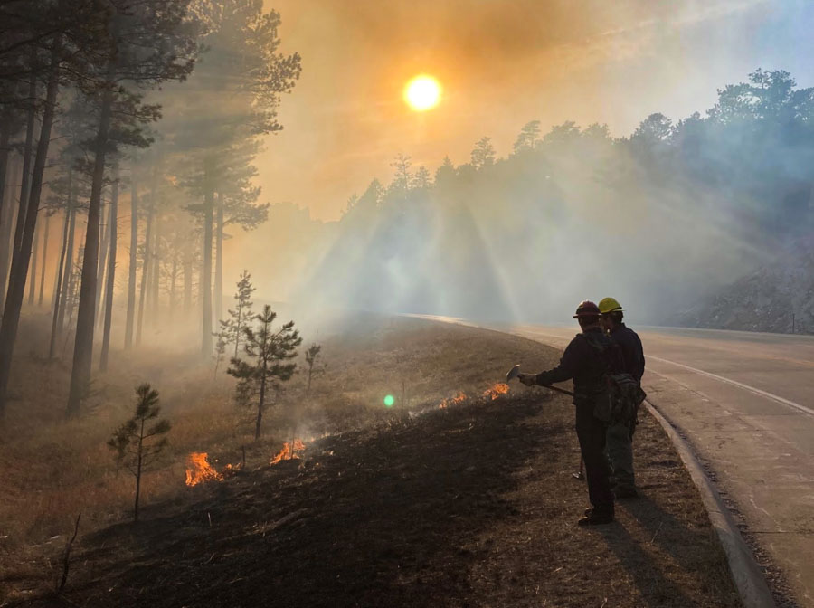 Fire in the Black Hills, March 29, 2021