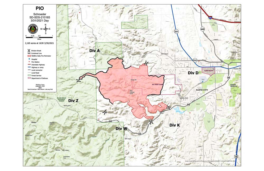 Map of the Schroeder Fire