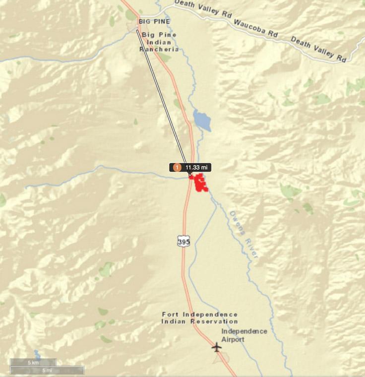 Calvert Fire map