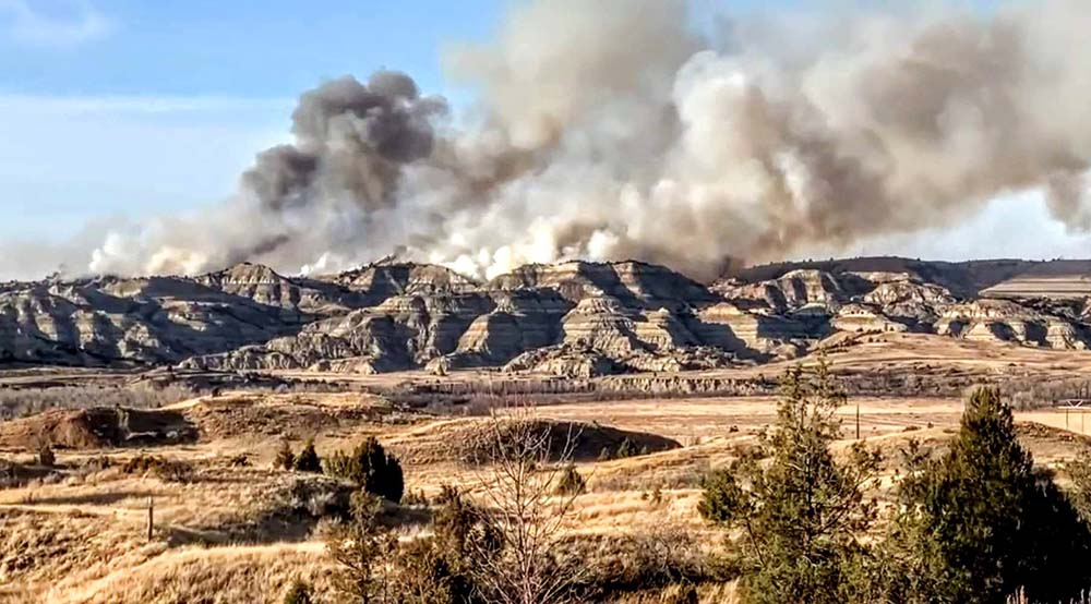 Horse Pasture Fire in Theodore Roosevelt National Park