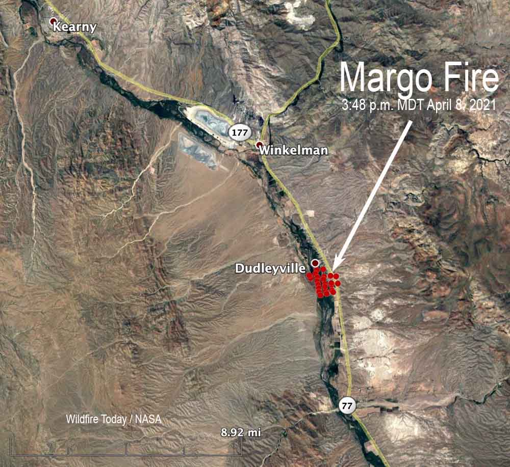 Map of the Margo Fire