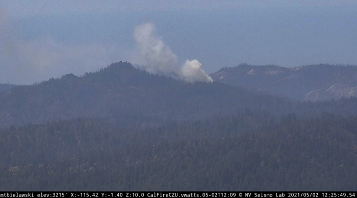 Basin Fire at 12:25 PDT May 2, 2021