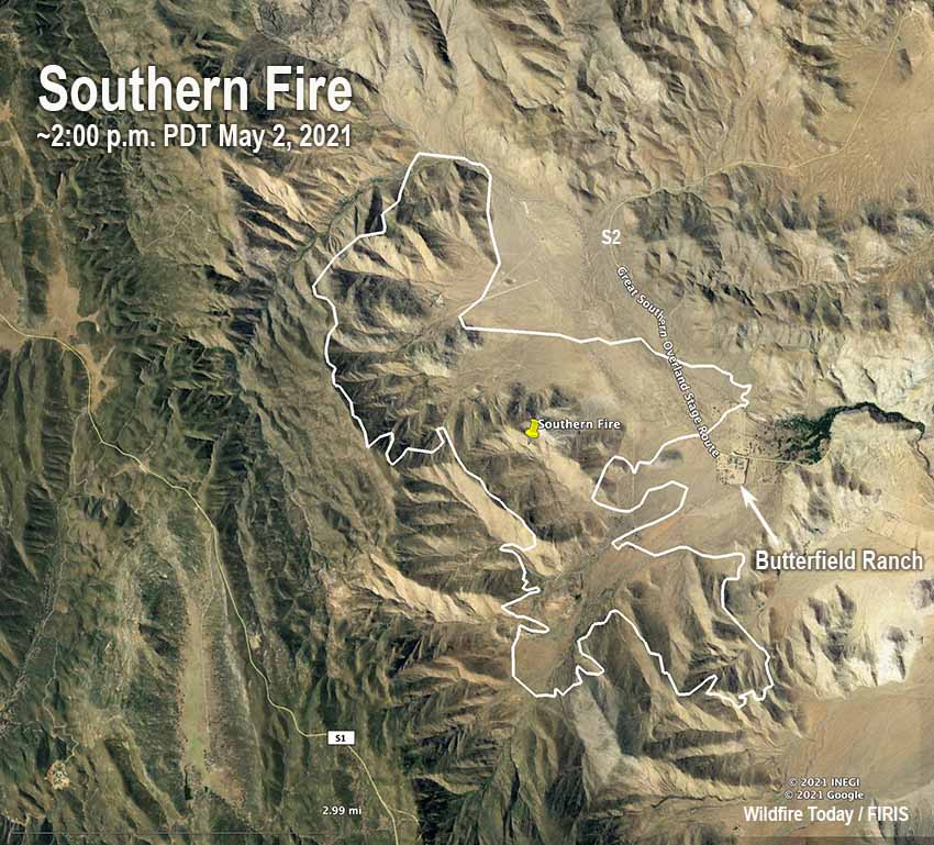Southern Fire map