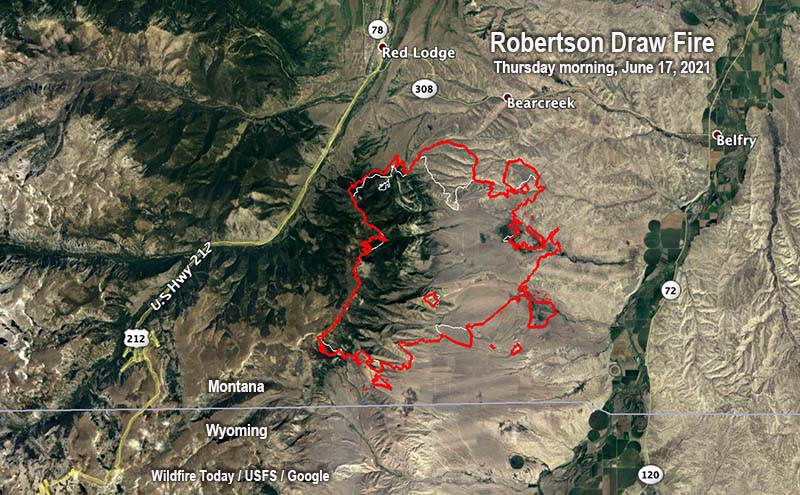 Map of the Robertson Draw Fire