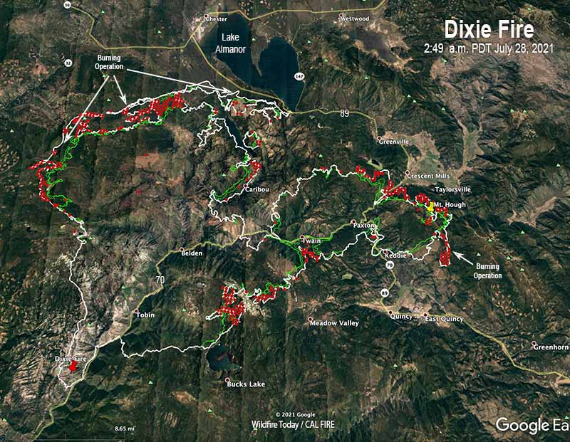 Dixie Fire map,