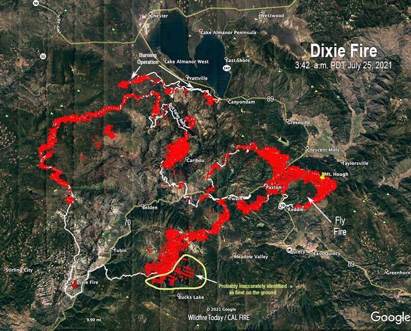 Dixie Fire map